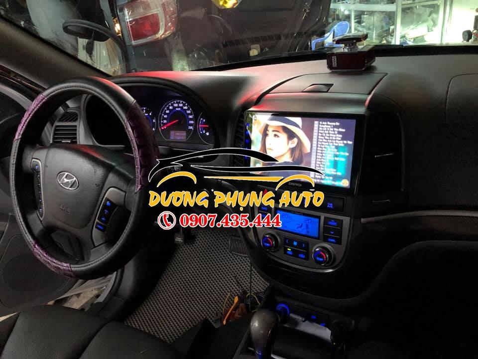 màn hình android  xe hyundai satafe 2009